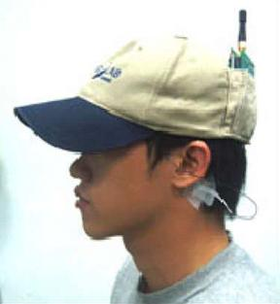 A baseball cap that reads your mind